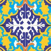 Adesivo para Azulejo Retrô Batuta Vinil 15x15cm 16 peças Cosi Dimora