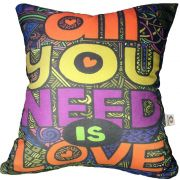 Almofada Beatles All You Need Is Love 40x40cm Cosi Dimora