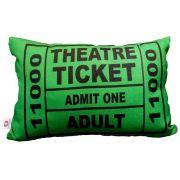 Almofada Theatre Ticket Verde 25x35cm Cosi Dimora