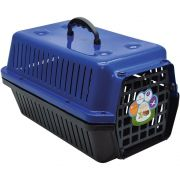 Caixa Transporte Cães E Gatos N 01 Azul Pet Un/1