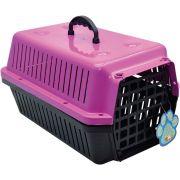 Caixa Transporte Cães E Gatos N 02 Rosa Pet Un/1