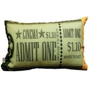 Capa de Almofada Cinema Ticket Admit One 25x35cm Cosi Dimora