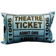 Capa de Almofada Theatre Ticket Azul 25x35cm Cosi Dimora