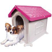 Casa Plástica Desmontável P/Cães N2 Rosa Pet Injet Un/1