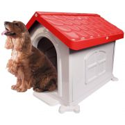 Casa Plástica Desmontável P/Cães N2 Vermelha Pet Injet Un/1