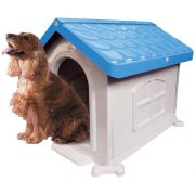 Casa Plástica Desmontável P/Cães N3 Azul Pet Injet Un/1