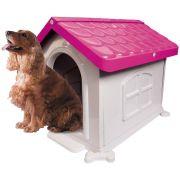 Casa Plástica Desmontável P/Cães N3 Rosa Pet Injet Un/1
