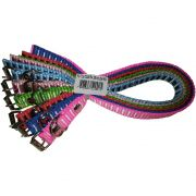 Coleira De Nylon P/Cães N02 Color Pet Pacote com 6 peças