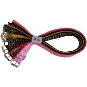 Coleira De Nylon P/Caes N08 Color Pet Pacote com 6 peças