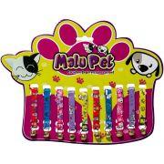 Coleira Elástica P/Gatos C/Guizo Pet Conjunto com 10 peças