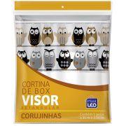 Cortina Box Vinil C/Visor 1,35x2,00 Corujinha Un/1