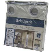 Cortina Corta Luz Bastão 2,60x1,70 Bege Bella Janela Un/1