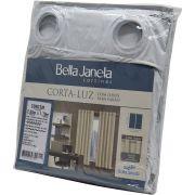 Cortina Corta Luz Bastão 2,60x1,70 Branca Bella Janela Un/1