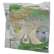 Cortina Corta Luz Bastão 2,70x1,80 Branco/Cinza Un/1
