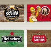 Jogo Americano Lona Emborrachada Cervejas 4 peças Cosi Dimora