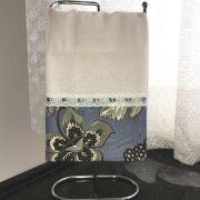 Pano de Prato Floral Azul Cosi Dimora