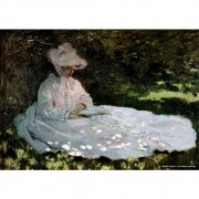 Pôster Decorativo A4 A Woman Reading - Claude Monet Cosi Dimora