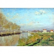 Pôster Decorativo A4 Argenteuil the Seine - Claude Monet Cosi Dimora