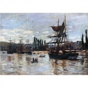 Pôster Decorativo A4 Boats at Rouen - Claude Monet Cosi Dimora