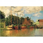 Pôster Decorativo A4 Boats at Zaandam - Claude Monet Cosi Dimora