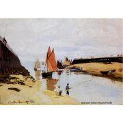 Pôster Decorativo A4 Entrance to the Port of Trouville - Claude Monet Cosi Dimora