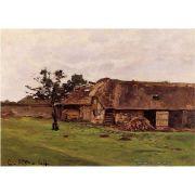 Pôster Decorativo A4 Farm Near Honfleur - Claude Monet Cosi Dimora
