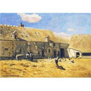 Pôster Decorativo A4 Farmyard at Chailly - Claude Monet Cosi Dimora
