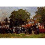 Pôster Decorativo A4 Festival at Argenteuil - Claude Monet Cosi Dimora