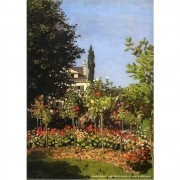 Pôster Decorativo A4 Garden in Bloom at Sainte Addresse - Claude Monet Cosi Dimora