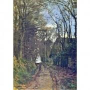 Pôster Decorativo A4 Lane in Normandy - Claude Monet Cosi Dimora