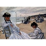 Pôster Decorativo A4 On the Beach at Trouville 1871 - Claude Monet Cosi Dimora