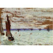 Pôster Decorativo A4 Open Sea - Claude Monet Cosi Dimora