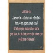 Pôster Decorativo A4 Quadro Negro Lembre-se Cosi Dimora