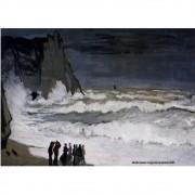 Pôster Decorativo A4 Rough Sea at Etretat 1869 - Claude Monet Cosi Dimora