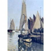 Pôster Decorativo A4 Sailing Boats at Honfleur - Claude Monet Cosi Dimora