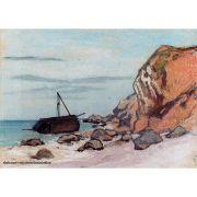 Pôster Decorativo A4 Saint Adresse Beached Sailboat - Claude Monet Cosi Dimora