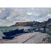 Pôster Decorativo A4 Saint Adresse Fishing Boats on the Shore - Claude Monet Cosi Dimora