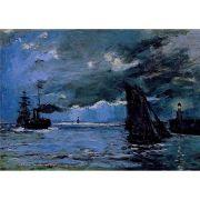 Pôster Decorativo A4 Seascape Night Effect - Claude Monet Cosi Dimora