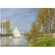 Pôster Decorativo A4 Small Boat on the Small Branch of the Seine at Argenteuil - Claude Monet Cosi Dimora