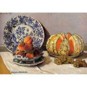 Pôster Decorativo A4 Still Life With Melon - Claude Monet Cosi Dimora