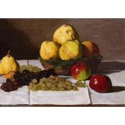 Pôster Decorativo A4 Still Life With Pears and Grapes - Claude Monet Cosi Dimora