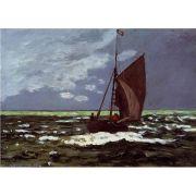Pôster Decorativo A4 Stormy Seascape - Claude Monet Cosi Dimora
