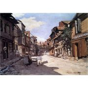 Pôster Decorativo A4 Street of the Bavolle Honfleur - Claude Monet Cosi Dimora