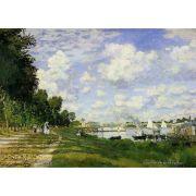 Pôster Decorativo A4 The Basin at Argenteuil - Claude Monet Cosi Dimora