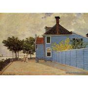 Pôster Decorativo A4 The Blue House at Zaandam - Claude Monet Cosi Dimora