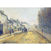 Pôster Decorativo A4 The Boulevard Heloise in Argenteuil - Claude Monet Cosi Dimora