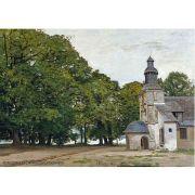 Pôster Decorativo A4 The Chapel Notre Dame de Grace at Honfleur - Claude Monet Cosi Dimora
