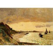 Pôster Decorativo A4 The Coast at Sainte Adresse - Claude Monet Cosi Dimora