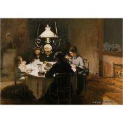 Pôster Decorativo A4 The Dinner 1869 1 - Claude Monet Cosi Dimora