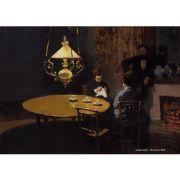 Pôster Decorativo A4 The Dinner 1869 - Claude Monet Cosi Dimora